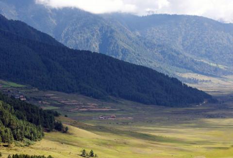 Phobjikha Valley, Gangtey, Bhutan.